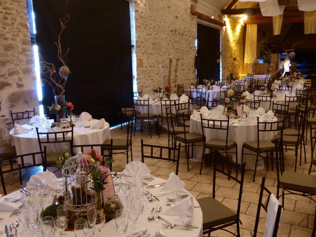 Les Hauts de Pardaillan - Salle du repas de mariage