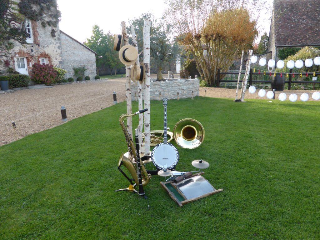 Les instruments du groupe de jazz - Mariage au domaine Les Hauts de Pardaillan