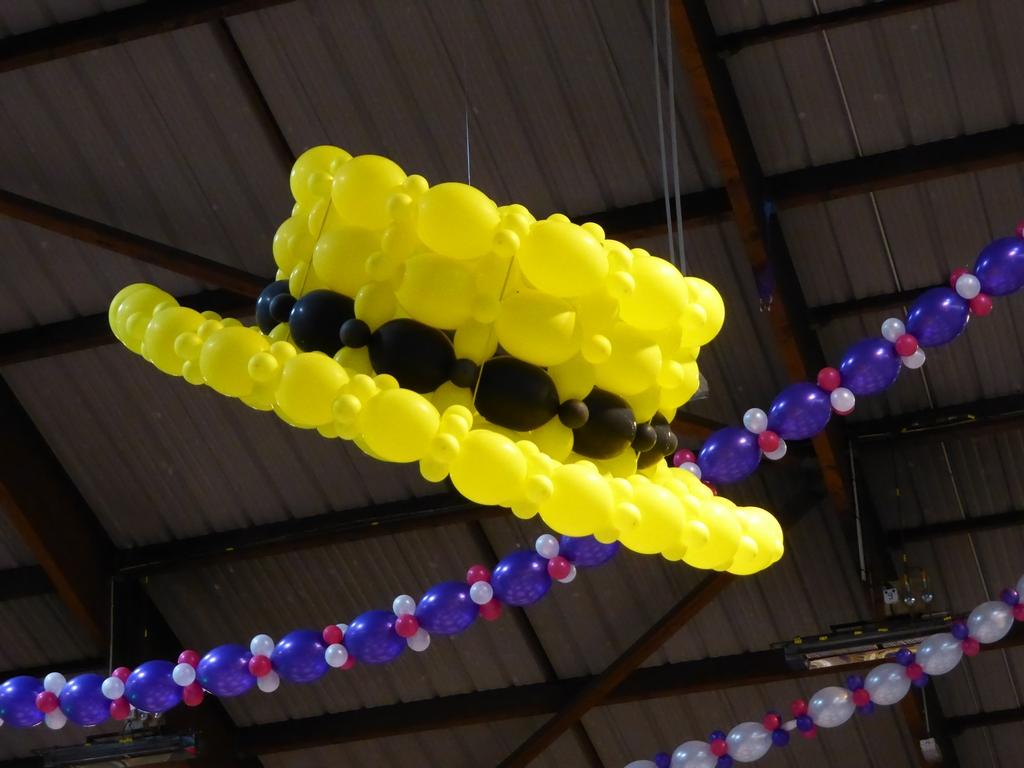 Le canotier en ballons lors du repas de gala du CMCAS de Seine-Saint-Denis